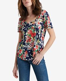 Lucky Brand Summer Bouquet Printed T-Shirt
