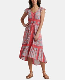 Lucky Brand Felice Printed High-Low Dress