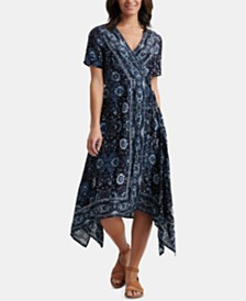 Lucky Brand Ashley Printed Wrap Dress