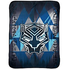Marvel Black Panther Blue Tribe Throw