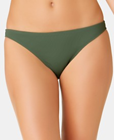 California Waves Juniors' Solid Ribbed Hipster Bottoms, Created for Macy's