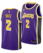 ad4a0ceba16 Nike Men s Lonzo Ball Los Angeles Lakers Statement Swingman Jersey