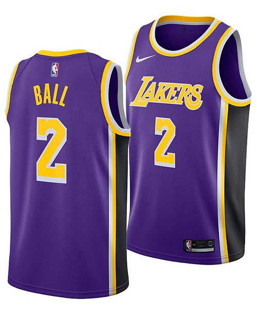 2d327d0ace9 ... Nike Men's Lonzo Ball Los Angeles Lakers Statement Swingman Jersey ...