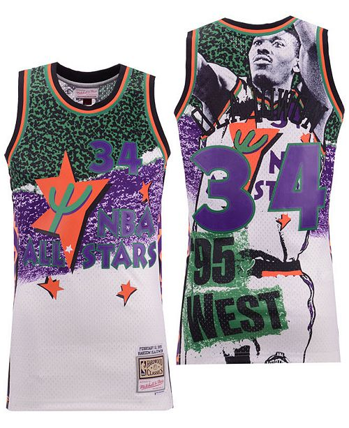 hot sale online e8e28 35326 Men's Hakeem Olajuwon NBA Fashion All Star Swingman Jersey