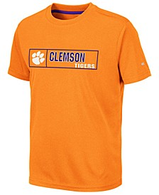 Big Boys Clemson Tigers Boxed Logo Polyester T-Shirt