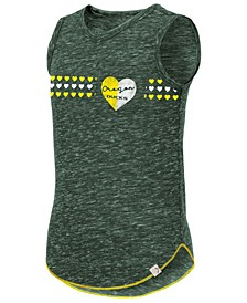 Big Girls Oregon Ducks Distressed Heart Tank Top