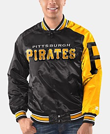 Starter Men's Pittsburgh Pirates Dugout Starter Satin Jacket
