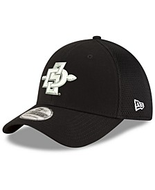 San Diego State Aztecs Black White Neo 39THIRTY Stretch Fitted Cap