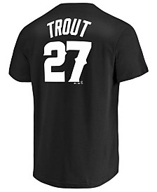 Majestic Men's Mike Trout Los Angeles Angels Tuxedo Pack Player T-Shirt