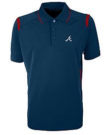 Antigua Men's Atlanta Braves Merit Polo