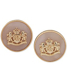 Lauren Ralph Lauren Stone & Crest Stud Earrings