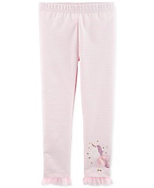 Carter's Toddler Girls Striped Unicorn Leggings