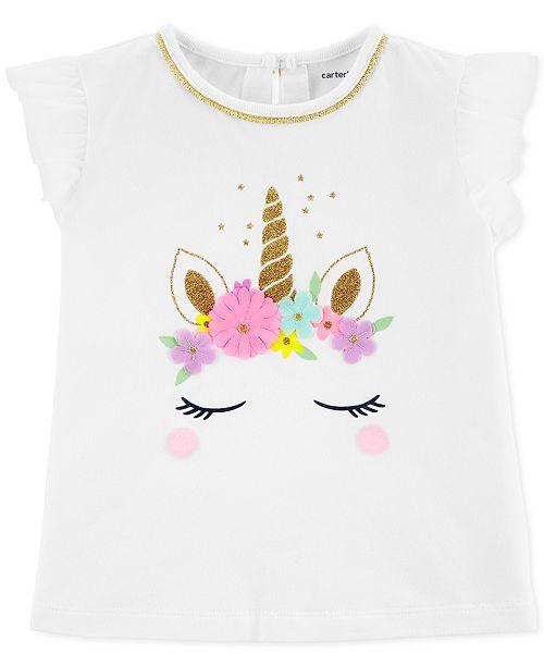 2356b8d0d Carter's Toddler Girls Unicorn T-Shirt; Carter's Toddler Girls Unicorn T-  ...