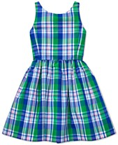 4f298b510 Polo Ralph Lauren Big Girls Plaid Fit & Flare Dress, Created for Macy's