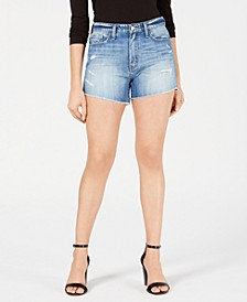 Cotton Cutoff Denim Shorts