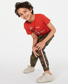 Epic Threads Little Boys Dino Parts T-Shirt & Camo Joggers, Created for Macy's