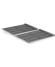 Nonstick 4 Piece Cookie Sheet & Cooling Rack Set