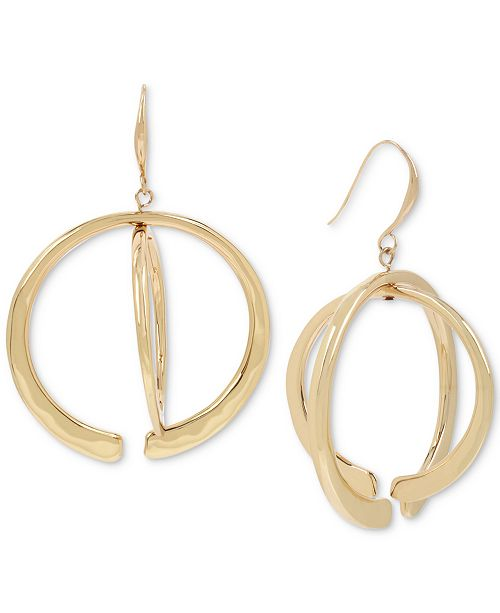 d386812b5 ... Robert Lee Morris Soho Gold-Tone Geometric Layered Orbital Drop Earrings  ...