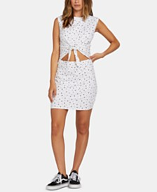 Volcom Juniors' Cutout Tie-Front Dress