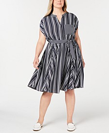 Plus Size Striped Dress, Created for Macy's