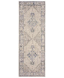 "Logan Colorwashed Kilim 22"" x 61"" Accent Rug"