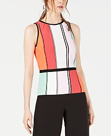 Bar III Colorblocked Sleeveless Sweater, Created for Macy's