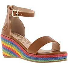 Little & Big Girls Azalia Ray Wedge Sandal