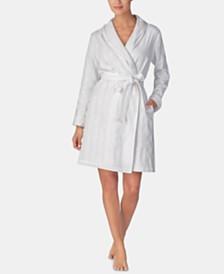 Lauren Ralph Lauren Terry-Lined Woven Cotton Robe