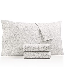 4-Pc. Printed Microfiber King Sheet Set, Created for Macy's