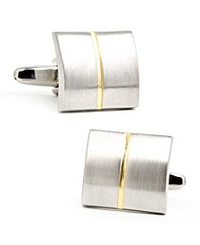 Divided Two Tone Square Cufflinks