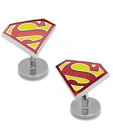 Textured Superman Shield Cufflinks