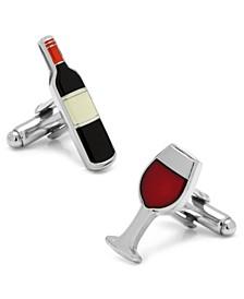 Wine and Bottle Cufflinks