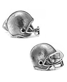 Sterling Football Helmet Cufflinks