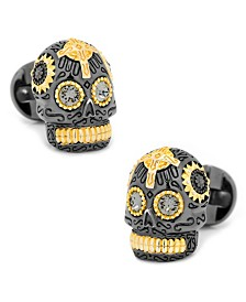 Vermeil Day of the Dead Skull Cufflinks