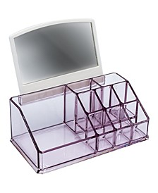 Makeup Organizer with Mirror - 10 Slots