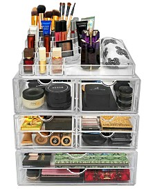 Sorbus Cosmetics Makeup and Jewelry Storage Case Display Sets - Style 2