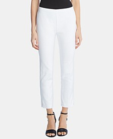 Zip-Hem Cropped Pants