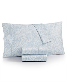 Charter Club 2-Pk. Sleep Luxe Cotton 800-Thread Count Printed King Pillowcase Pair, Created for Macy's