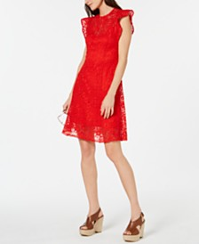 MICHAEL Michael Kors Crocheted Dress, Regular & Petite