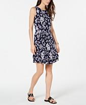 d60b4496ed6 MICHAEL Michael Kors Reef-Print Ruffle-Hem Dress