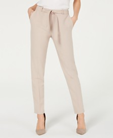 Nine West Belted Stretch Pants