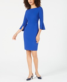 Elie Tahari Isla Split-Sleeve Sheath Dress