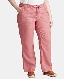 Lauren Ralph Lauren Plus Size Linen Pants