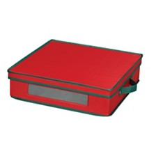 Household Essentials Holiday China Charger Plate Storage Box