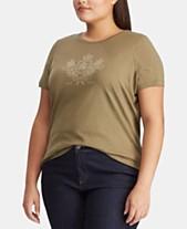 1e8e81cb4 Lauren Ralph Lauren Plus Size Graphic T-Shirt