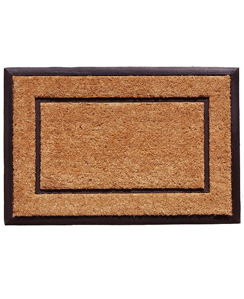 Home & More The General 2' x 3' Coir/Rubber Doormat