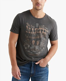 Lucky Brand Men's Martin Guitar Graphic Tee