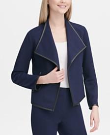 Calvin Klein Diamond-Textured Open-Front Jacket