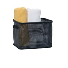 Household Essentials Eva Mesh Medium Storage Basket Tote, Black