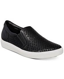 Ecco Women's Soft 7 Laser-Cut Slip-On Sneakers